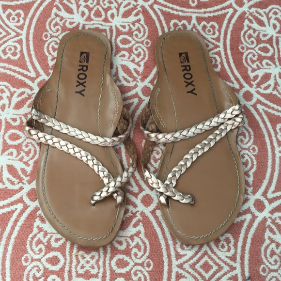 Roxy Braided Leather Strap Sandals